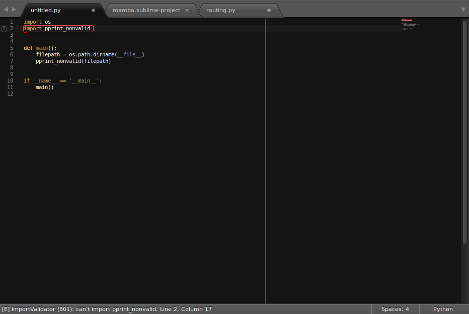 Anaconda, the Python IDE for Sublime Text 3